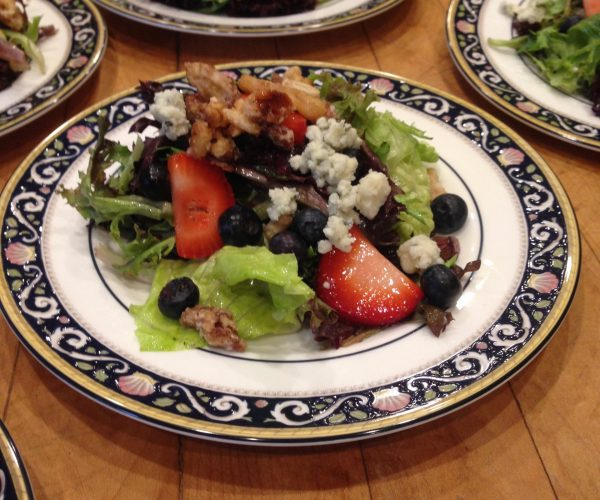 Plated Pearson's Salad